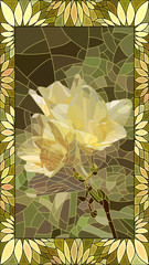 Vector illustration of flower yellow iris.
