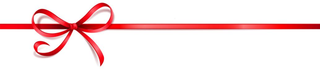Schleife Band rot geschwungen
