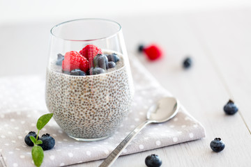 Healthy chia pudding