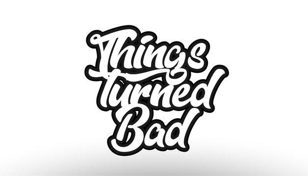 black beautiful graffiti text word expression typography