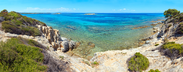 Poster Cote Aegean sea coast (Chalkidiki, Greece).