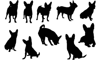Chihuahua Dog Silhouette Vector Graphics
