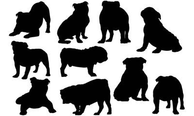 Bulldog Silhouette Vector Graphics
