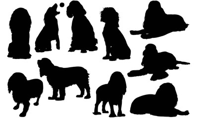 English Cocker Spaniel Dog Silhouette Vector Graphics