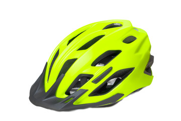 Bicycle helmet is isolated