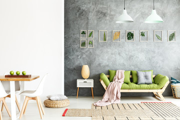 Open gray and white apartment