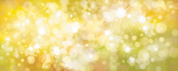 Vector bokeh, sparkle, yellow  background.