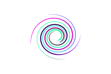 spiral rainbow background