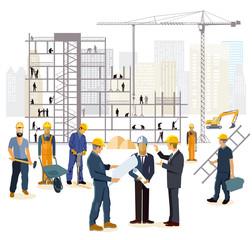 Architekt und Ingenieur auf der Baustelle