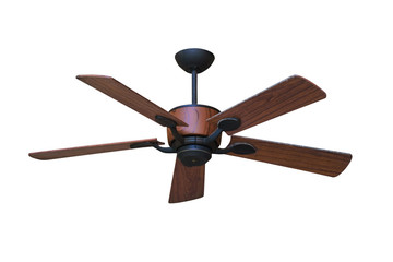 Electric ceiling fan isolated.