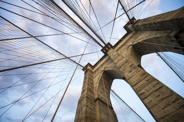 Printed roller blinds Brooklyn Bridge Brooklyn Bridge New York City close up architectural detail