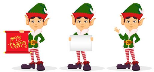 Elf, set of three poses.