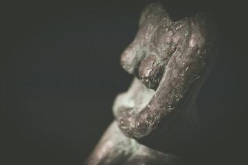 Détail sculpture en bronze
