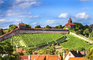 Esslingen Germany,view of historic castle
