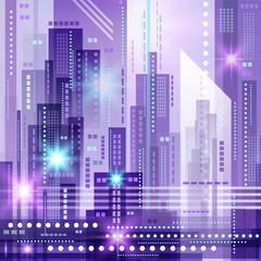 Abstract modern cityscape, vector illustration