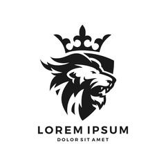 lion crown shield logo