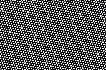 Metallic object, dotted background texture