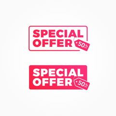 Special Offer 50% Off Tags Advertisement