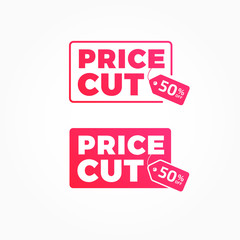 Price Cut 50% Off Tags Advertisement