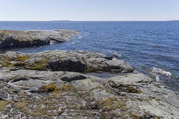 Coastal rocks on Ladoga Lake