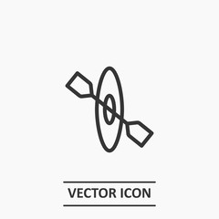 Outline rowing icon illustration vector symbol