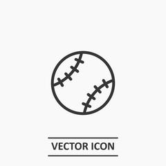 Outline baseball ball icon illustration vector symbol