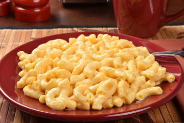 Macaroni and cheese closeup