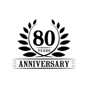 80 years anniversary logo template.
