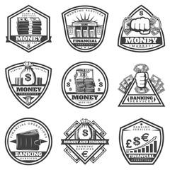 Vintage Monochrome Money Labels Set