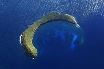 Molokini Crater - Aerial View Near Maui - Hawaii
