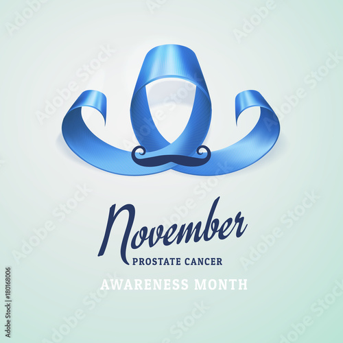 World Prostate Cancer Day Concept Prostate Cancer Awareness Blue