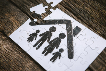 Family concept, puzzle.