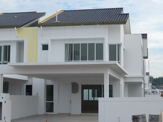 Double Story Luxury Terrace House Under Construction In Seremban, MAlaysia.