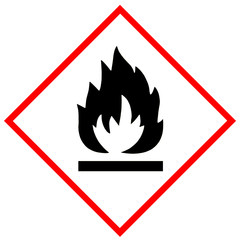 Flammable symbol sign