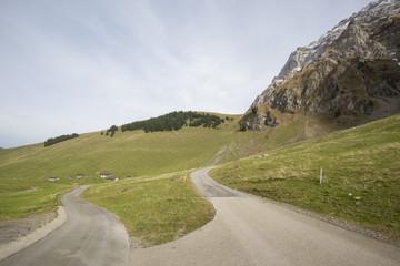 Beautiful view of valley mountain Saentis, Switzerland