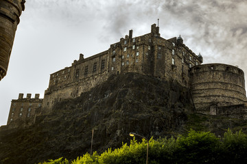 Edinburgh Castle under a moody sky