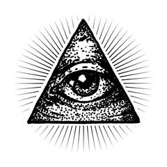 Masonic Eye Dot work Style