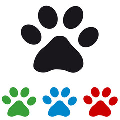 Cats Paw - Colourful Vector Icons