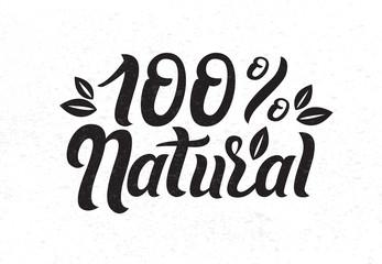 Vector illustration of Narural Organic Ingredients