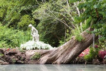 Statuary By Pond