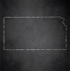Kansas map blackboard chalkboard vector