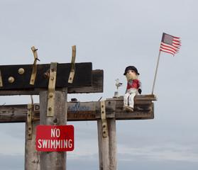 Pirate Says No Swimming