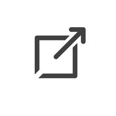 External Link Icon open a new window in a UX UI app.