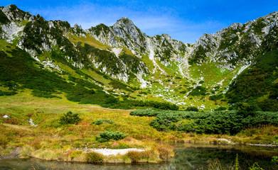 駒ケ岳 千畳敷カールを一望する風景