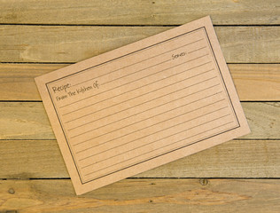 Baking Background with Customizable Recipe Card