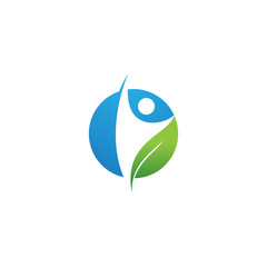 healthy people nature logo template
