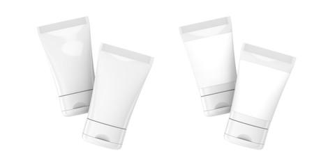 3D render facial cleanser mockup