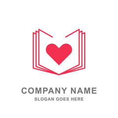Book Love Bookstore Logo Vector Icon