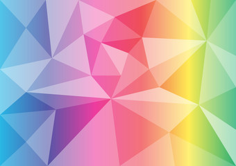 vector polygon rainbow color abstract background