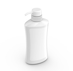 Blank pump dispenser bottle mockup